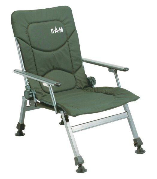 DAM Luxus Karpfenstuhl mit Armlehnen Camping Anglerstuhl