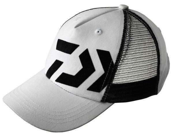 Daiwa D-Cap weiß schwarz Kappe