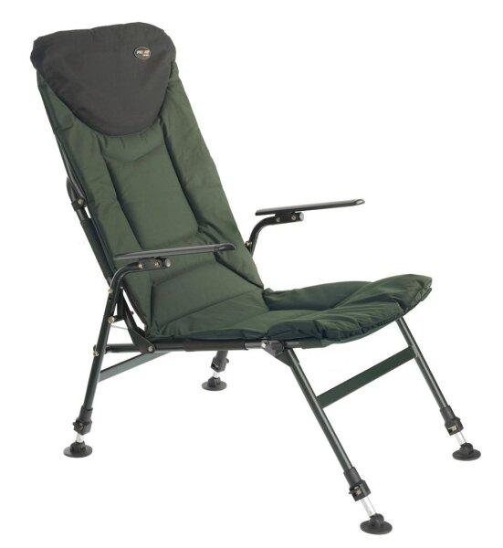PRO CARP Karpfenstuhl mit Armlehnen Modell 7200 hohe Rückenlehne 73cm