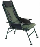 PRO CARP Luxus Karpfenstuhl mit Armlehnen Modell 7300 mit Nierenschutz