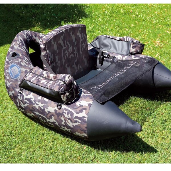 Lineaeffe Belly Boat XXL Camou Camouflage Belly Boat Boot inkl. Pumpe