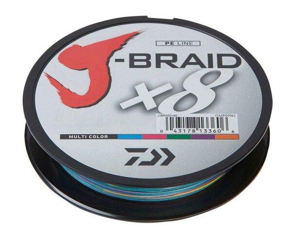 Daiwa J-Braid X8 0,51mm 56Kg 300m multicolor Geflochtene Schnur