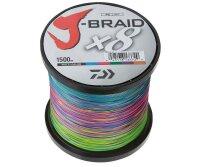 Daiwa J-Braid X8 0,22mm 17Kg 1500m multicolor Geflochtene...