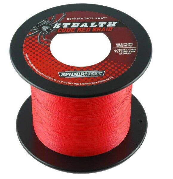 Spiderwire STEALTH CODE RED 0,38mm 36,22Kg 1800m geflochtene Schnur