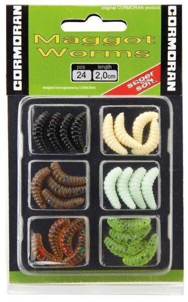Cormoran Maggot Worm Set 2 2.0cm 6x4