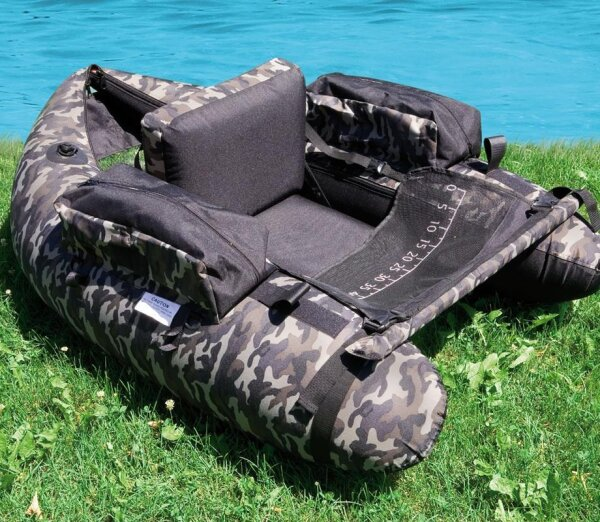 Lineaeffe Belly Boat Camou Camouflage Belly Boat Boot inkl. Pumpe