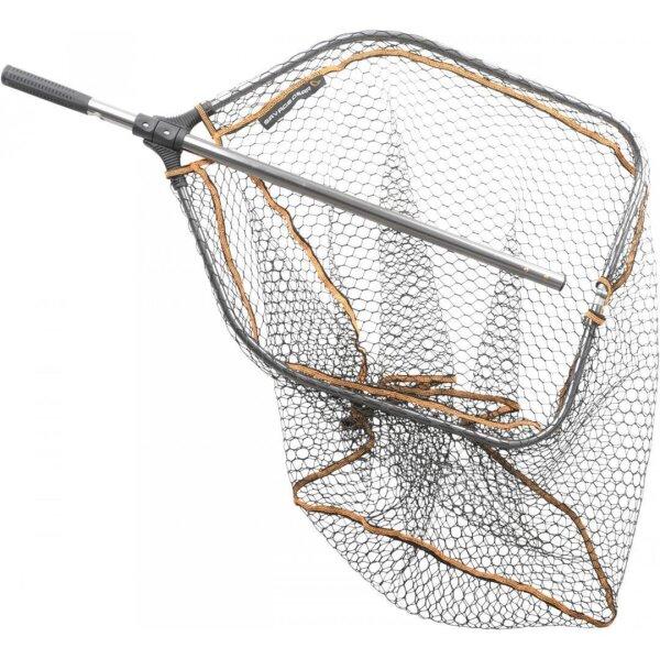 Savage Gear Kescher ProFolding Rubber Large Mesh Landing Net XL 70x85cm