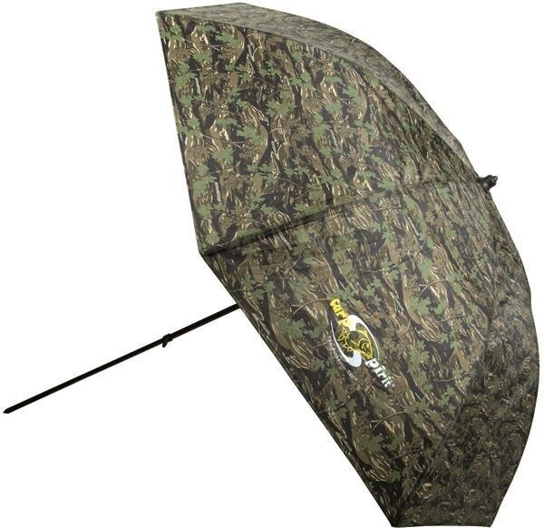 Carp Spirit Umbrella220 Camo Schirmzelt mit Seitenteilen Anglerschirm