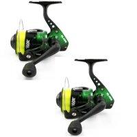 2x Lineaeffe Angelrolle Vigor Power 40 mit Schnur
