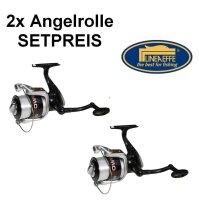 2x Lineaeffe Angelrolle Vigor Power 60 mit Schnur