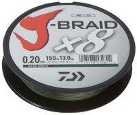 Daiwa J-Braid X8 300m dunkelgrün Geflochtene Schnur 8FACH Spinnfischen Neuheit