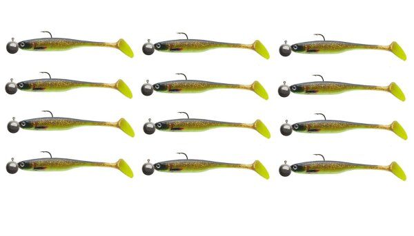 Cormoran Crazy FS 13cm chartreuse Box Inhalt 16 STK Gummifische