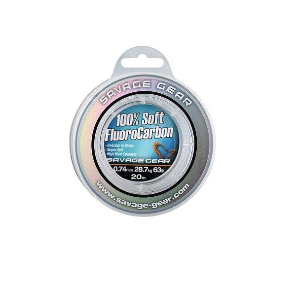 Savage Gear Soft Fluoro Carbon Schnur 0,17mm 50m 2,10kg 4,6lb