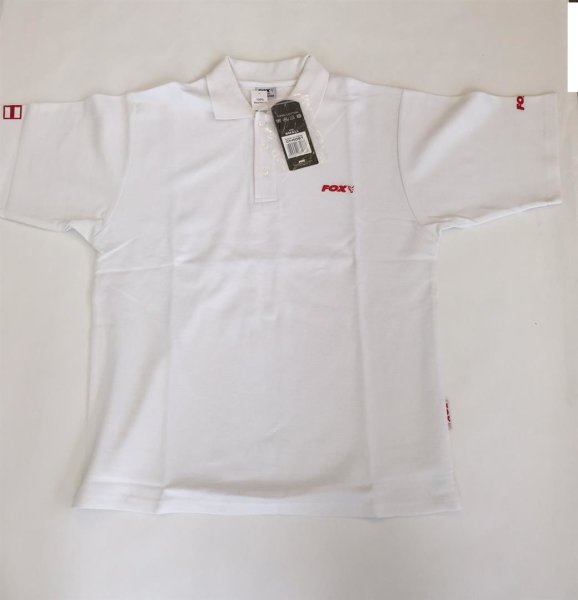 Fox Polo Shirt weiß Gr. S