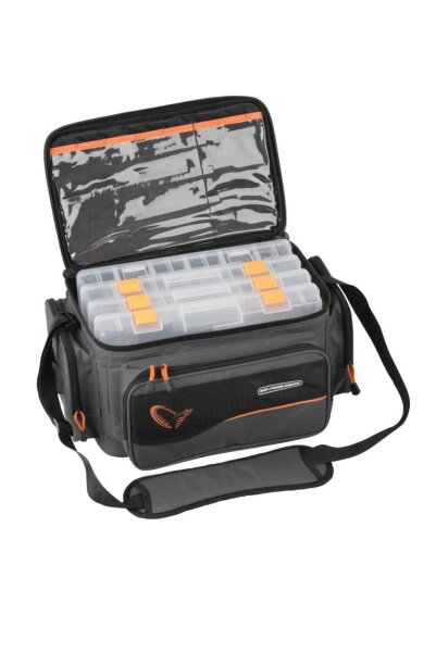 Savage Gear System Box Bag L 4 boxes (24x47x30cm) Kunstköder Tasche