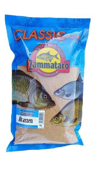 Zammataro Grundfutter Classik Range    Brassen 1Kg Lockmittel