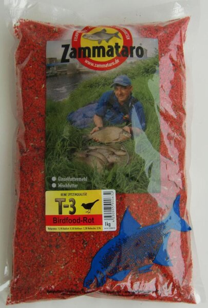 Zammataro Grundfutter T-3 Birdfood rot 1Kg Lockmittel