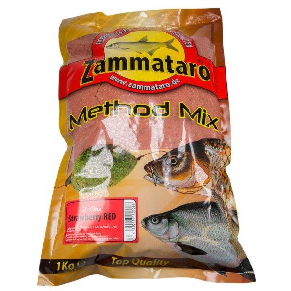 Zammataro Grundfutter Method - Mix Z-One Strawberry Red 1Kg Lockmittel
