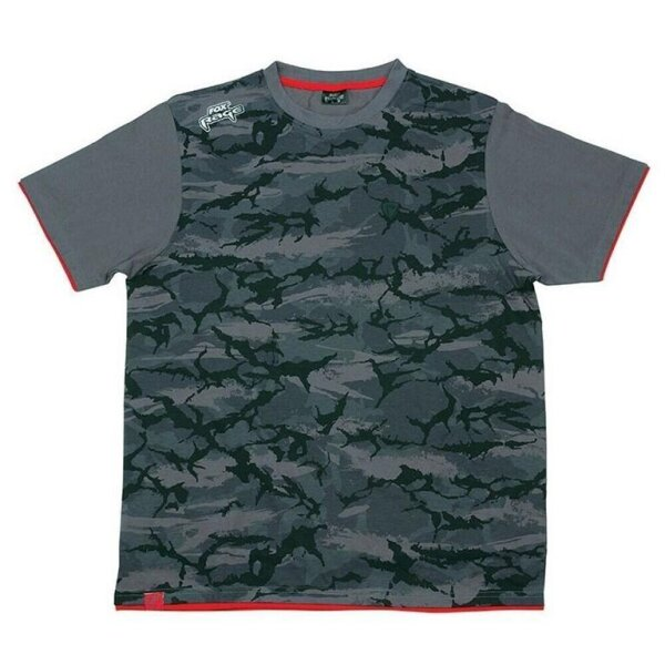 Fox Rage Camo T-Shirt Grey/Camo Gr. L