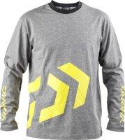 Daiwa D-Vec T-Shirt LS grey / yellow XL long sleeve
