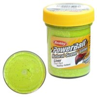 Powerbait Dough Natural ScentLiver - Chartreuse