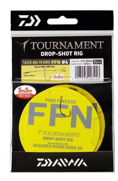 Daiwa Tournament Drop Shot Rig FFN #4 System Vorfach