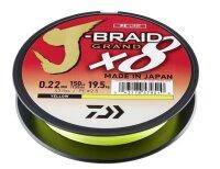 Daiwa J-Braid Grand X8 0,18mm 12,5kg 135m Yellow 8-Fach...