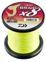 Daiwa J-Braid Grand X8 0,20mm 16kg 1350m Yellow 8-Fach...