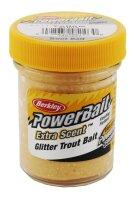 Berkley PowerBait Select Glitter Trout Bait Yellow Gelb 50g