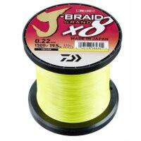 Daiwa J-Braid Grand X8 Großspule 2700m Gelb...