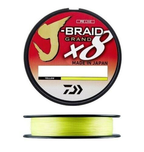 Daiwa J-Braid Grand X8 300m Geflochtene Schnur Gelb Angelschnur Sehne Geflecht