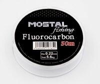 Mostal Fluorocarbon 0,16mm / 2,9kg / 50m Spule...