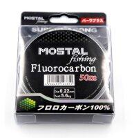 Mostal Fluorocarbon 0,22mm / 5,6kg / 50m Spule...