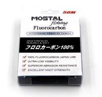 Mostal Fluorocarbon 0,24mm / 6,3kg / 50m Spule...