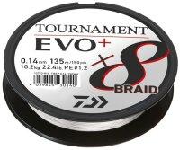 Daiwa Tournament x8 Braid EVO+ 0.14mm 135m weiß