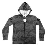 Daiwa Longsleve mit Kapuze Shirt camo grey Gr. XL