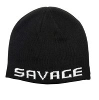 Savage Gear Logo Beanie One Size Black / White...